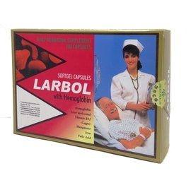 6盒 LARBOL 朗保血紅素複方膠囊 100粒/盒 鐵 葉酸 元氣健康館