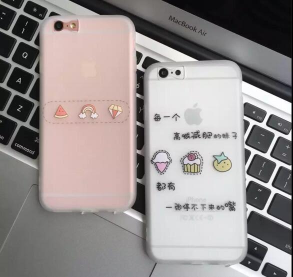 【SZ】iphone 6s plus 蛋糕西瓜 磨砂全包軟殼 蝴蝶孔 iphone 6s 手機殼 iphone 6 plus手機殼
