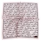 CLATHAS滿版字母印花純綿帕領巾(粉紅色)989265-16