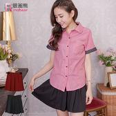 質感褲裙--青春洋溢百摺A-line高腰彈性褲裙(黑.紅XL-5L)-R164眼圈熊中大尺碼