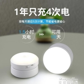 感應燈LED人體感應小夜燈充電家用過道衣櫃廚房櫃底無線自粘櫥櫃燈YYJ 雙十二免運