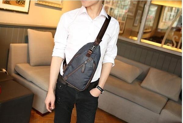 FINDSENSE品牌 韓國 新款 FIN韓國出品包款 男士胸包 單肩包 腰包 騎行 背包 潮流