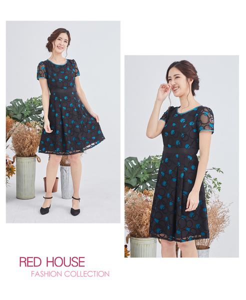 【RED HOUSE 蕾赫斯】圓圈透膚洋裝(共2色)