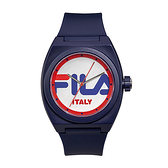 【FILA 斐樂】簡約LOGO造型手錶-帥氣藍/38-180-001/台灣總代理公司貨享兩年保固