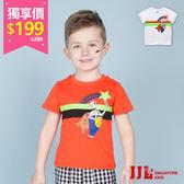 網路獨家-JJLKIDS 男童 塗鴉超人印花純棉短袖T恤上衣(2色) 售價:299