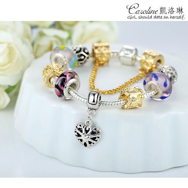 《Caroline》★【沉魚落雁】韓風優雅時尚品味典雅設計潘朵拉琉璃珠手鍊68586