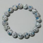 【歡喜心珠寶】【天然巴基斯坦K2 Blue圓珠10mm手鍊】19顆.重28.3g「附保證書」藍銅礦能量石