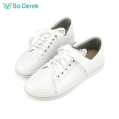 BO DEREK 貓耳造型休閒鞋-白色