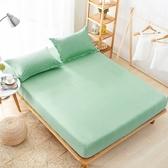 [特大]100%防水 吸濕排汗床包保潔墊(不含枕套)【果綠】