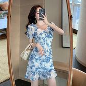 洋裝 高腰皺褶魚尾連身裙-媚儷香檳-【D1914】