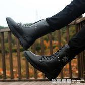 馬丁靴軍靴短靴冬季男士韓版潮流皮靴中筒馬靴雪地工裝高筒男靴子  依夏嚴選