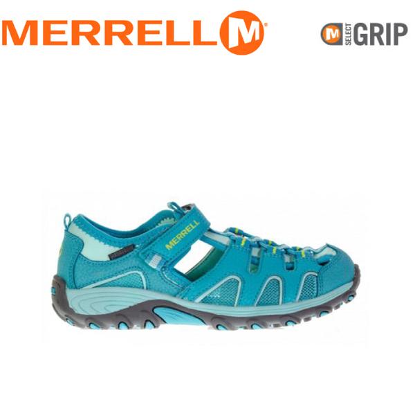 【MERRELL 美國 兒童 HYDRO H2O HIKER SANDAL《水藍》】MLC56509/兒童涼鞋/休閒鞋/運動健走鞋★滿額送