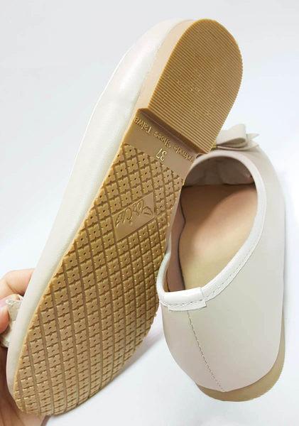 蝴蝶結軟皮面 優雅公主鞋《7+1童鞋》c611米色