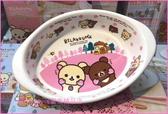 asdfkitty可愛家☆日本san-x粉紅色拉拉熊陶瓷盤/焗烤盤-日本正版商品