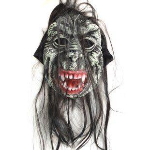 萬聖節  帶發黑布鬼面具110g二個價