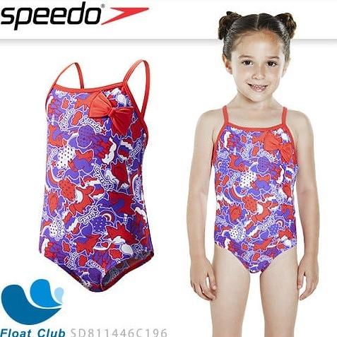 【SPEEDO】幼童女休閒連身泳裝 Fantasy Beats Bow 獨角獸 開立發票 現貨 原價NT.1180元