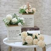北歐仿真植物裝飾ins 小盆栽擺件假綠植臥室室內客廳盆景 擺設~端午節特惠~