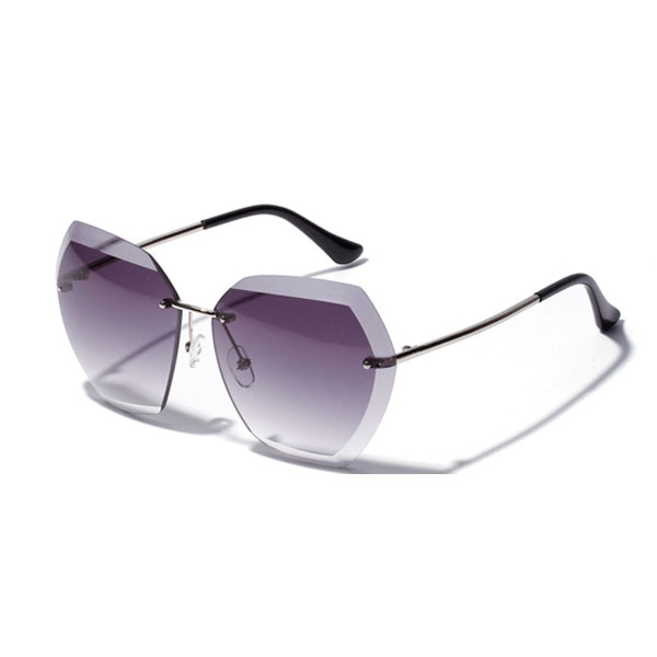 OT SHOP太陽眼鏡 歐美漸層鏡面海洋片切邊百搭抗UV400墨鏡 漸層粉 漸層灰 漸層咖啡 粉藍[現貨]W48