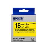 【高士資訊】EPSON 18mm LK-5YBVN 耐久型 黃底黑字 原廠 盒裝 防水 標籤帶