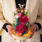 永生花 禮盒音樂盒玫瑰花乾花束生日七夕情人節禮物擺件 coco衣巷