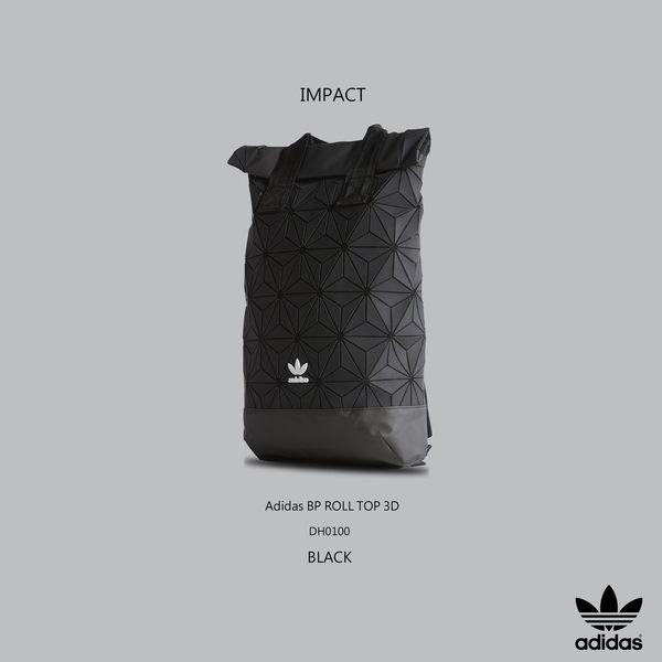 IMPACT Adidas BP ROLL TOP 3D  三宅一生 黑 立體格紋 後背包 男女款 限量聯名款 DH0100