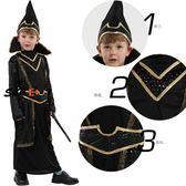 萬聖節服裝 萬圣節 cosplay服裝 兒童 面具 舞會 演出服 cos 表演服