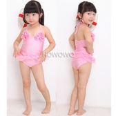 泳裝+泳帽 吊帶舞蹈裙式連身泳衣+帽 SE0032 好娃娃