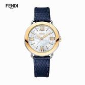 FENDI 芬迪 SELLERIA 母貝FD-F8112365H0LL雲朵白手工錶帶 玫瑰金36mm限量一款售完不在出售