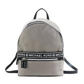 【南紡購物中心】MICHAEL KORS KENLY大LOGO尼龍後背包-中/灰