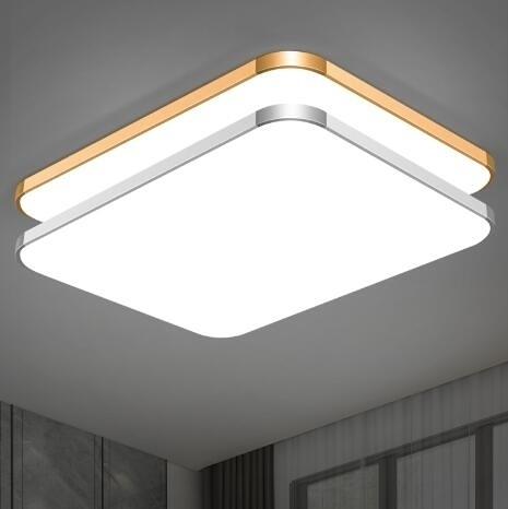 【快出】吸頂燈 LED長方形遙控大氣客廳燈具現代簡約臥室燈陽臺燈餐廳燈飾YYP