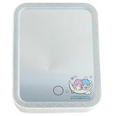 小禮堂 雙子星 方形LED化妝鏡 補光燈化妝鏡  美妝鏡 桌鏡 立鏡 (藍 月亮) 4718007-01360