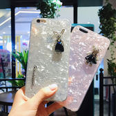蘋果 iPhoneX iPhone8 Plus iPhone7 Plus iPhone6s Plus 貝殼紋黑裙小熊兔子 手機殼 保護殼 貼鑽殼
