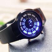 電子手錶智慧多功能黑科技學生ins超火的 無指針概念手錶男特種兵『韓女王』