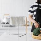 日式廚房毛巾置物架臺面懶人晾抹布架立式可折疊收納架掛架 璐璐生活館