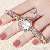 手錬錶女鑲鑚手錶韓版簡約女士手錶女時尚潮流學生防水鑚時裝女錶-Ifashion