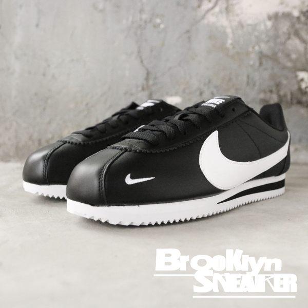 Nike Classic Cortez 黑皮革白logo 後跟Sportswear 字 阿甘 休閒鞋 男(布魯克林)2018/10月 807480-004