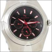 【萬年鐘錶】 Roven Dino 羅梵迪諾 楊丞琳代言 三眼黑紅字大 RD9801