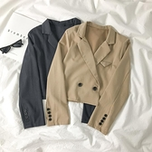 西裝外套 英倫風黑色西裝外套女秋季2020新款韓版氣質長袖短款顯瘦西服上衣 风尚3C