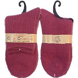 【波克貓哈日網】日本製保暖襪◇COLOR◇《桃紅色》
