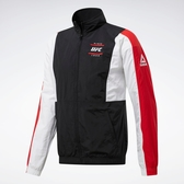 REEBOK UFC FG CAPSULE 男裝 外套 慢跑 夾克 立領 拼接 黑 白 紅【運動世界】FJ5190