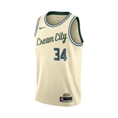 Nike 球衣 Giannis Antetokounmpo Bucks City Edition NBA Jersey 卡其 綠 男款 公鹿隊 字母哥 【PUMP306】 AV4652-280