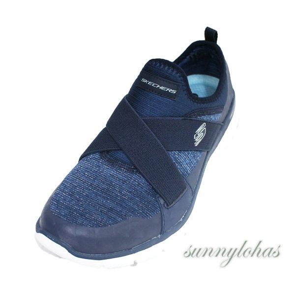 SKECHERS (女)Flex Appeal 3.0 健走鞋 運動鞋 套入式-13065NVY 深藍 [陽光樂活]