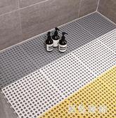 10片裝浴室防滑墊淋浴房衛生間鏤空滿鋪腳墊裁剪拼接墊塑料地墊 rj2726『黑色妹妹』