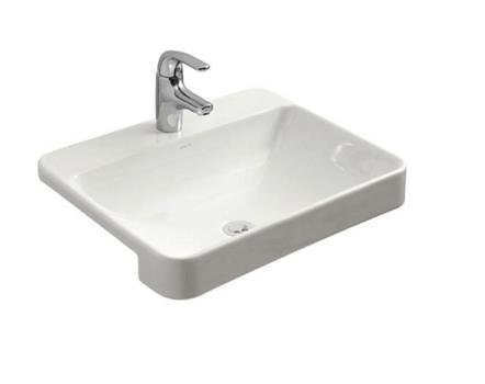 【麗室衛浴】美國 KOHLER FOREFRONT 單孔半崁盆 K-11479T-VC1-0