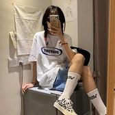 短袖女裝夏季中長款白色T恤寬鬆純棉正韓半袖上衣潮-Milano米蘭