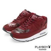 PLAYBOY 玩酷宣言 渲染印花氣墊運動鞋-紅