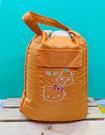 【震撼精品百貨】Hello Kitty 凱蒂貓~Sanrio HELLO KITTY肩背袋/後背袋-可樂鈴橘(雙面可用)#11190