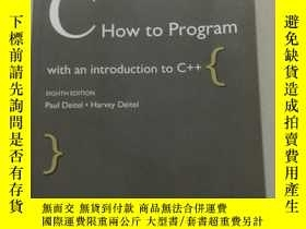 二手書博民逛書店CHow罕見to Program with an introduction to C ++(實物拍攝-詳情見圖)1