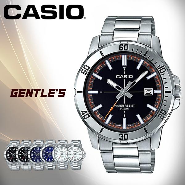 CASIO 卡西歐 手錶專賣店 MTP-VD01D-1E2 指針男錶 不鏽鋼錶帶 黑色錶面 日期顯示 MTP-VD01D