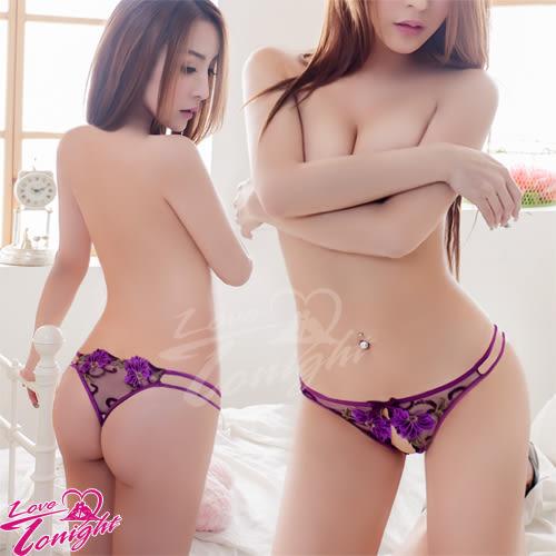 開襠丁字褲(愛在今夜)T5168-紫